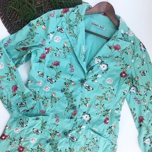 Johnny Was | Floral Embroidered Coat Mint Large